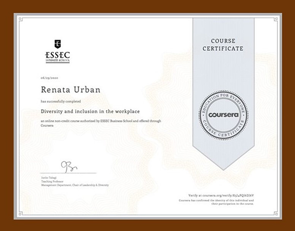 Diversity and Inclusion Course Certificate